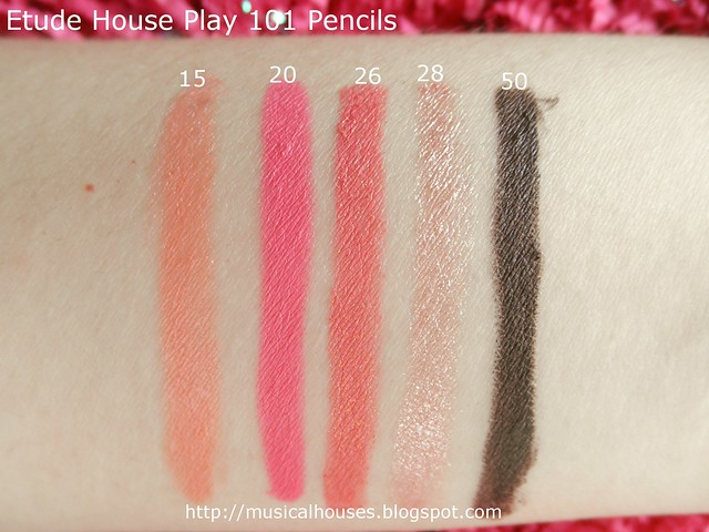 Etude House Play 101 Pencils Swatch