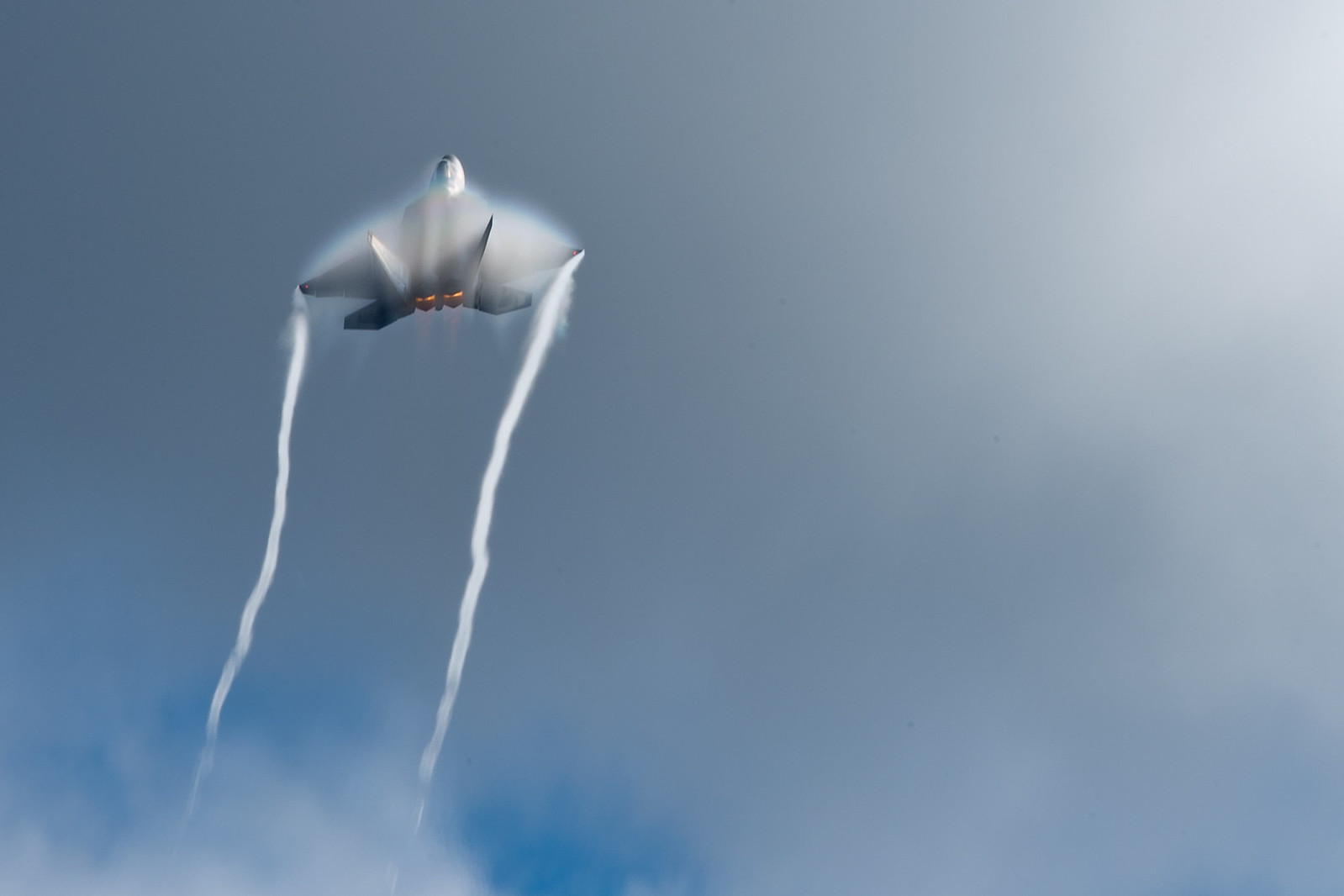 F-22 flys at Artctic Thunder
