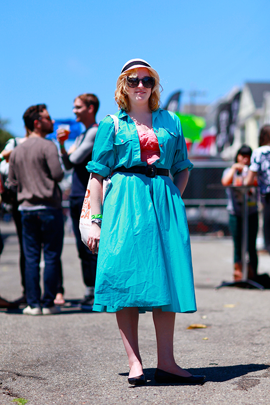 teal Phono del Sol, Quick Shots, San Francisco, street fashion, street style, women