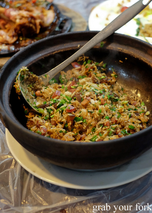 Clay pot rice at Tai Chung Wah, Cheung Sha Wan, Hong Kong