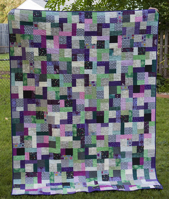 Quarter Square Log Cabin Quilt