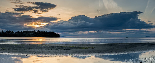 sunset vacation panorama canada reflection beach boat britishcolumbia parksville nikond800