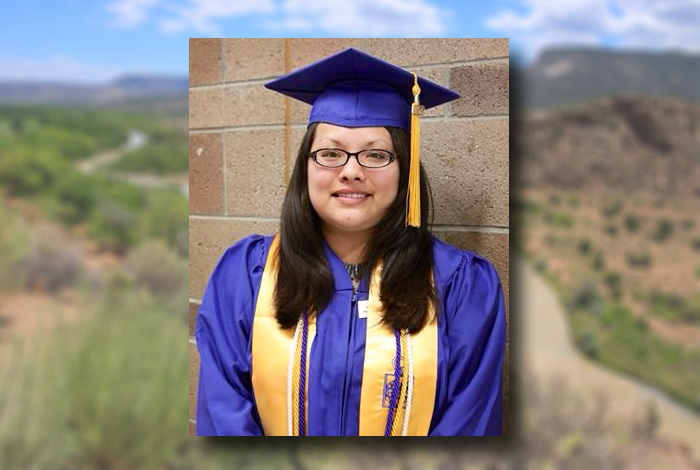 Aynjil Baca of Santa Clara Pueblo is one of the first two Northern New Mexico Tribal Business Scholarship recipients.