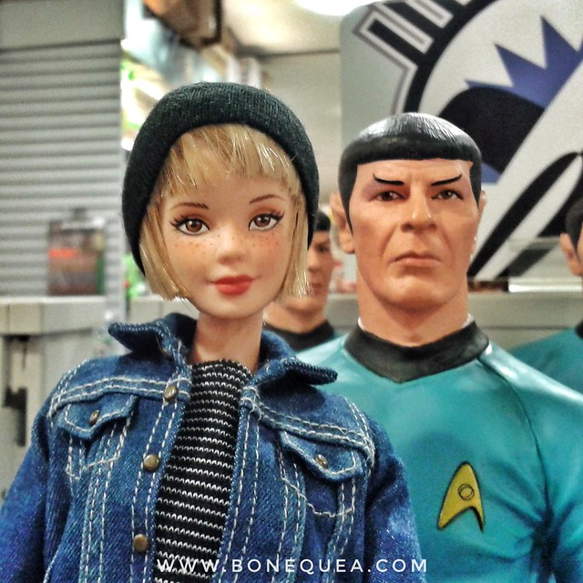 Barbie trekkie: with Mr. Spock at Forbidden Planet