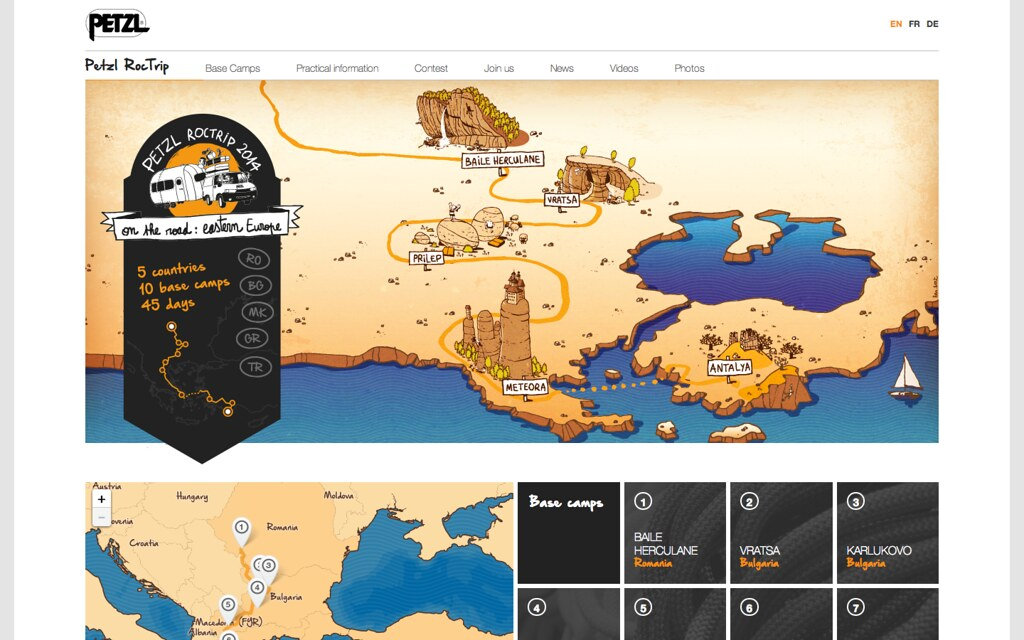 Petzl RocTrip 2014 website
