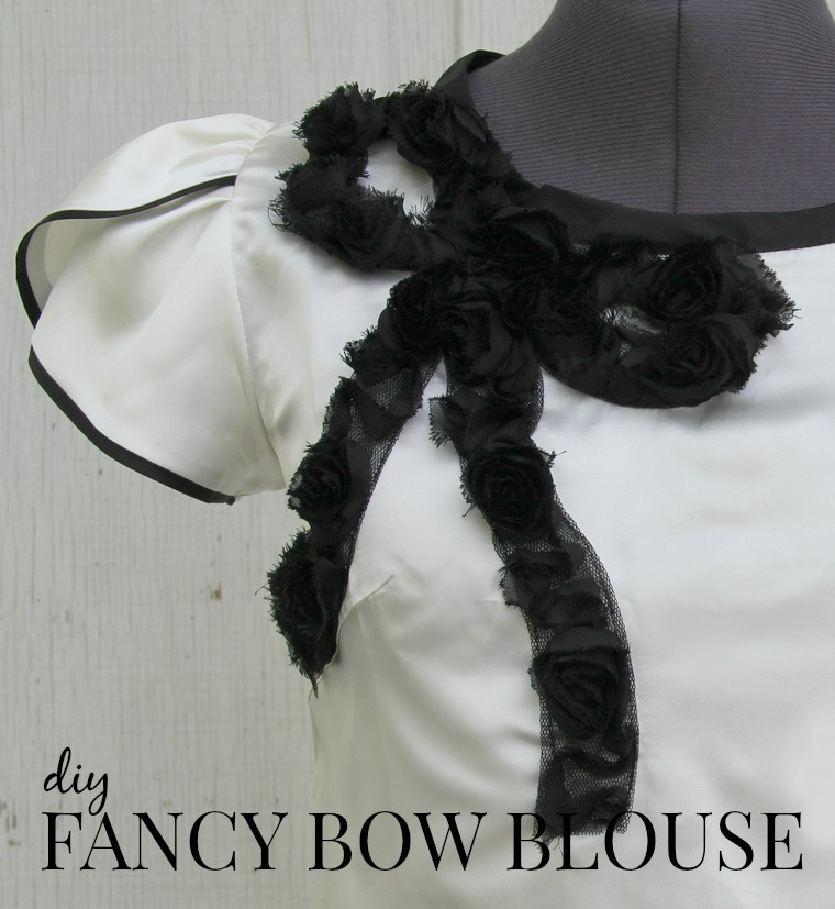 how to make a fancy bow blouse via Kristina J blog