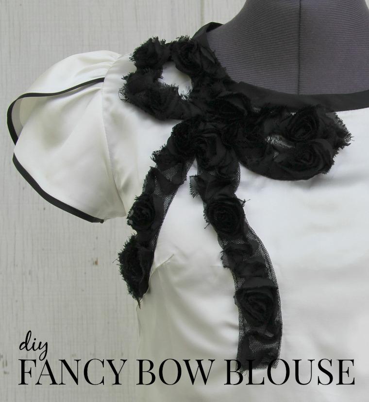 how to make a fancy bow blouse via Kristina J blog