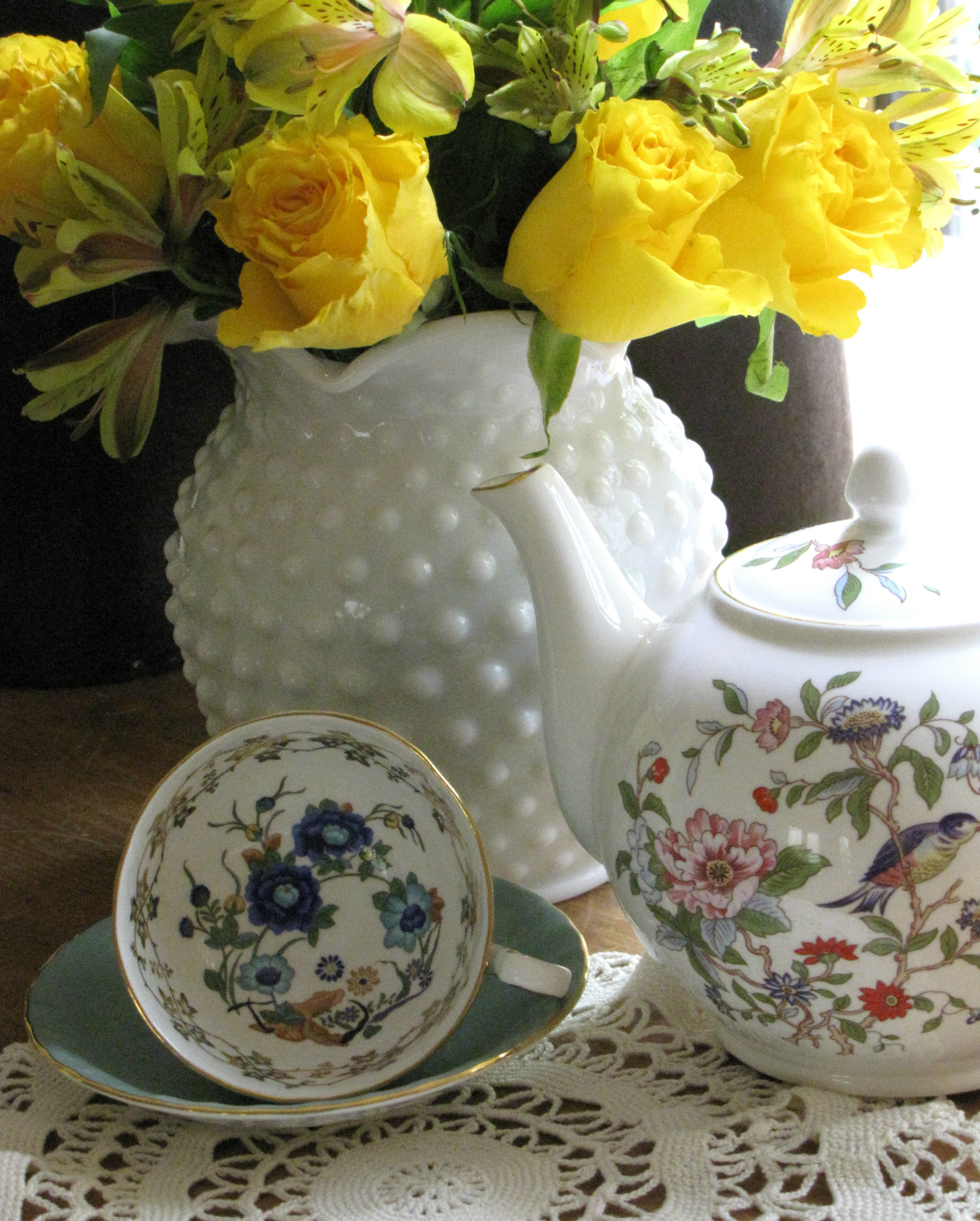 Aynsley Teapot and Teacup