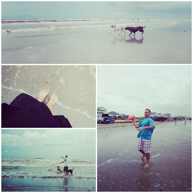 Playin on the beach! Missing my littles so much right now, but am enjoying the relaxation and adult time!