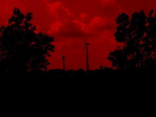 red energy poland windturbine blackandred