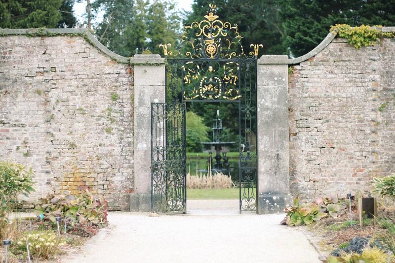 gilded garden gate