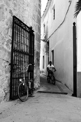 Dejar la bici al salir....