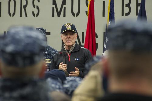 SECNAV Visits Future USS America