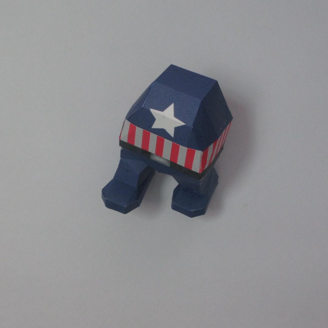 วิธีทำของเล่นโมเดลกระดาษกับตันอเมริกา (Chibi Captain America Papercraft Model) 015