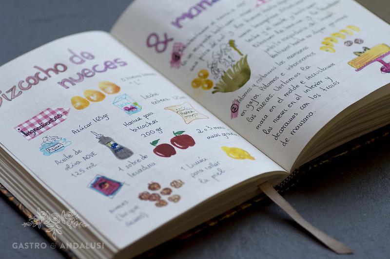 cuaderno de recetas ilustradas gastroandalusi