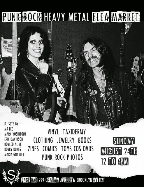 08/24/14 Punk Rock & Heavy Metal Flea Market @ Sage Bar, Brooklyn, NYC, NY