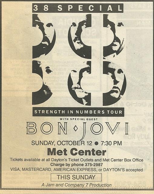 10/12/86 .38 Special/ Bon Jovi @ Met Center, Bloomington, MN