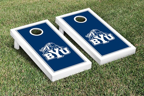 Brigham Young University BYU Cougars Cornhole Game Set Border Version