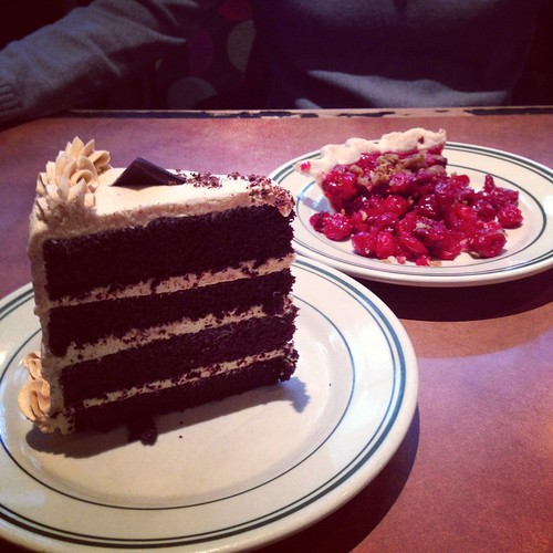 pb choc cake & cherry pie