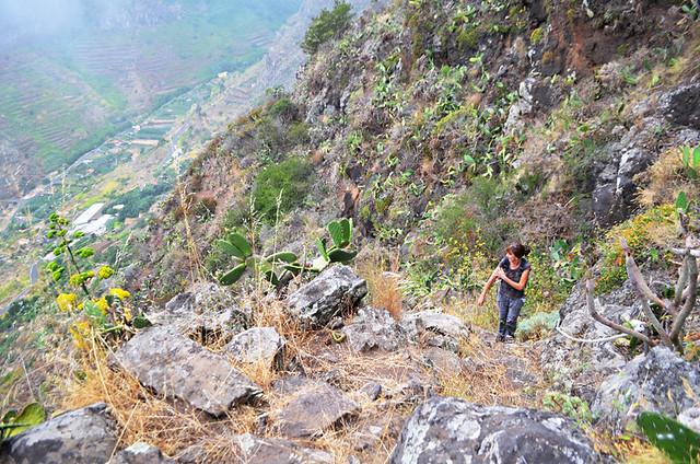 Climbing from Hermigua, La Gomera