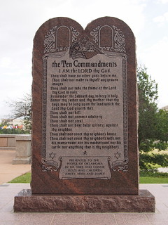 The Ten Commandments monument in Oklahoma