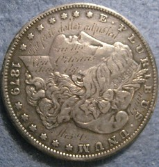 First dollar adjusted in the new orleans mint obverse