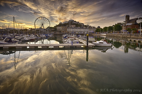 light sunset reflections boats harbour torquay 3xp sigma1020mm456exdchsm nikond7000 hdrefex
