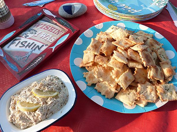 crackers et sardine