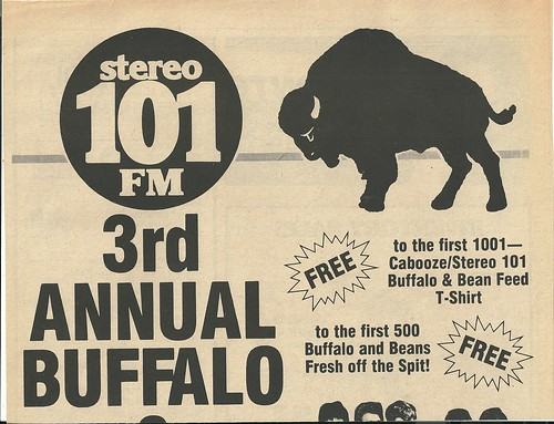 06/26/83 3rd Annual Buffalo & Bean Feed /w/ The Rockats @ The Cabooze, Minneapolis, MN (Ad-Top)