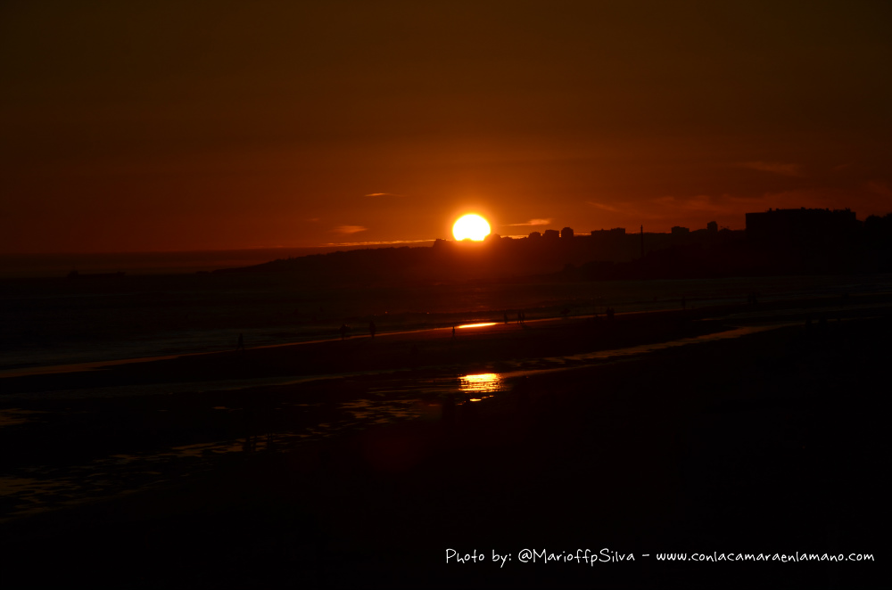 Puesta de Sol en la Playa de Carcavelos