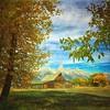 Autumn Morning at the Moulton Barn