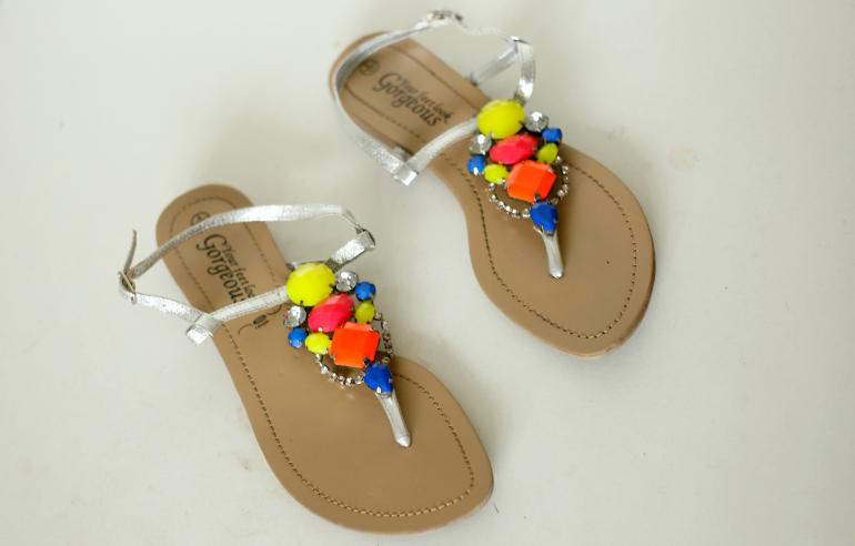 new look neon sandaaltjes