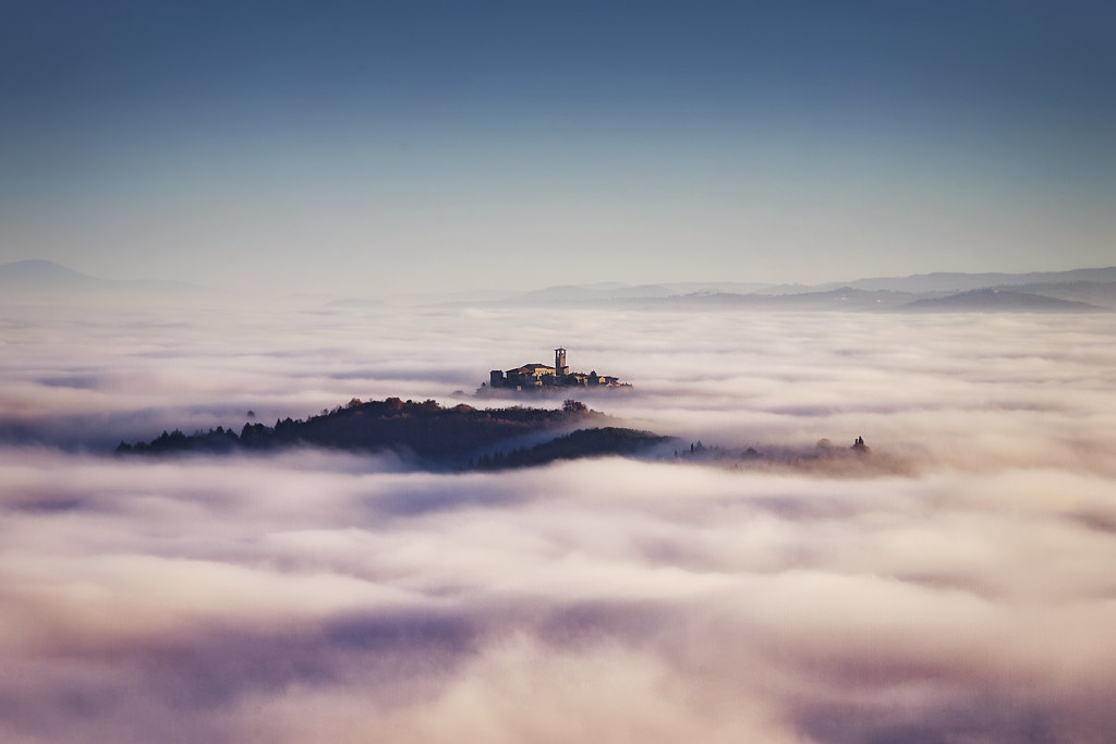 10 meters above fog level