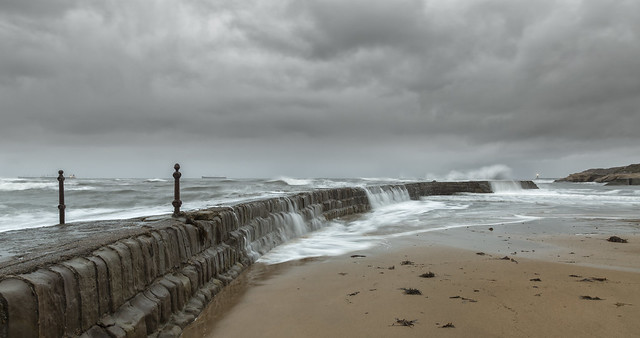 'Observe/ React' - Cullercoats Pier, Tynemouth.