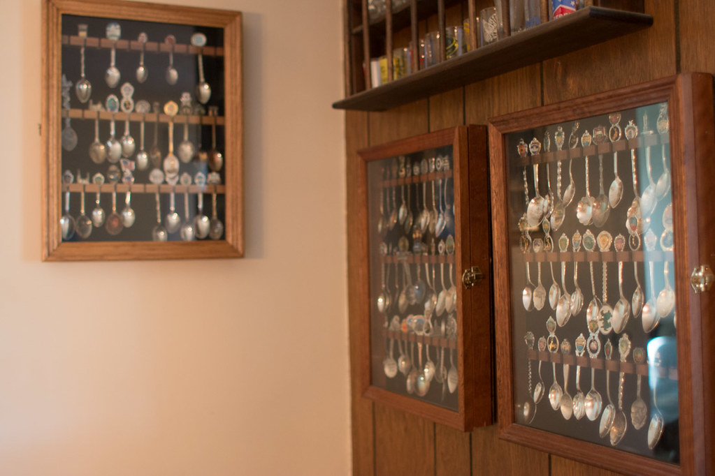 Old spoon display shelf