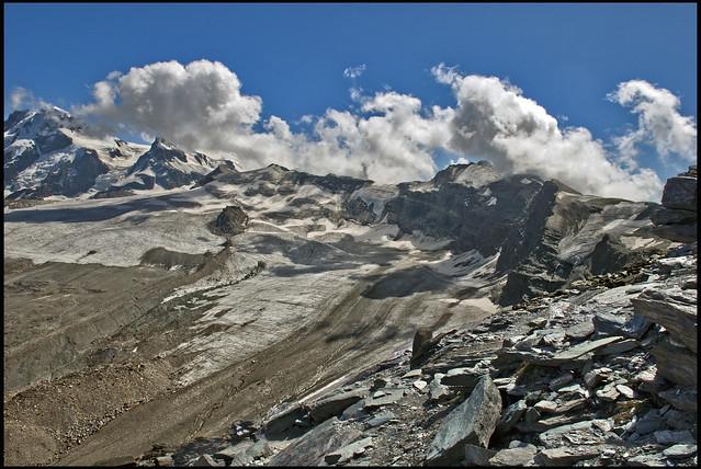 A view from the Refuge of Matterhorn & Hörnli, No, 1787.