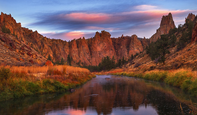 Smith Rock Park early in the Morning (Terrebonne, Central Oregon)