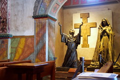 Statue of San Francisco de Asis and Santa Clara de Asis