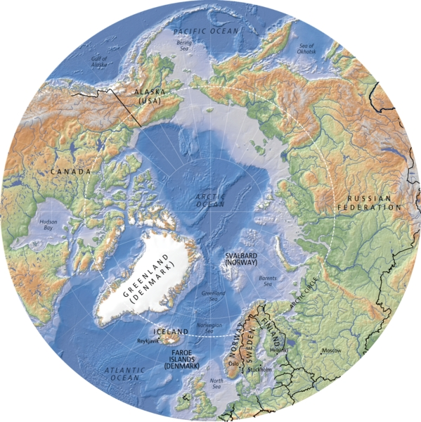 Pacific Ocean Topographic Map.Arctic Topography And Bathymetry Topographic Map Grid Arendal