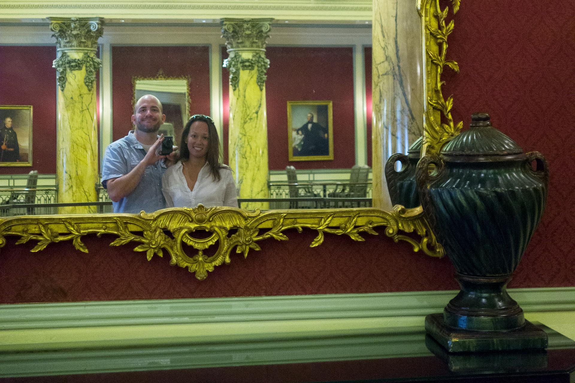 Matt and Heather in the Jefferson Hotel.