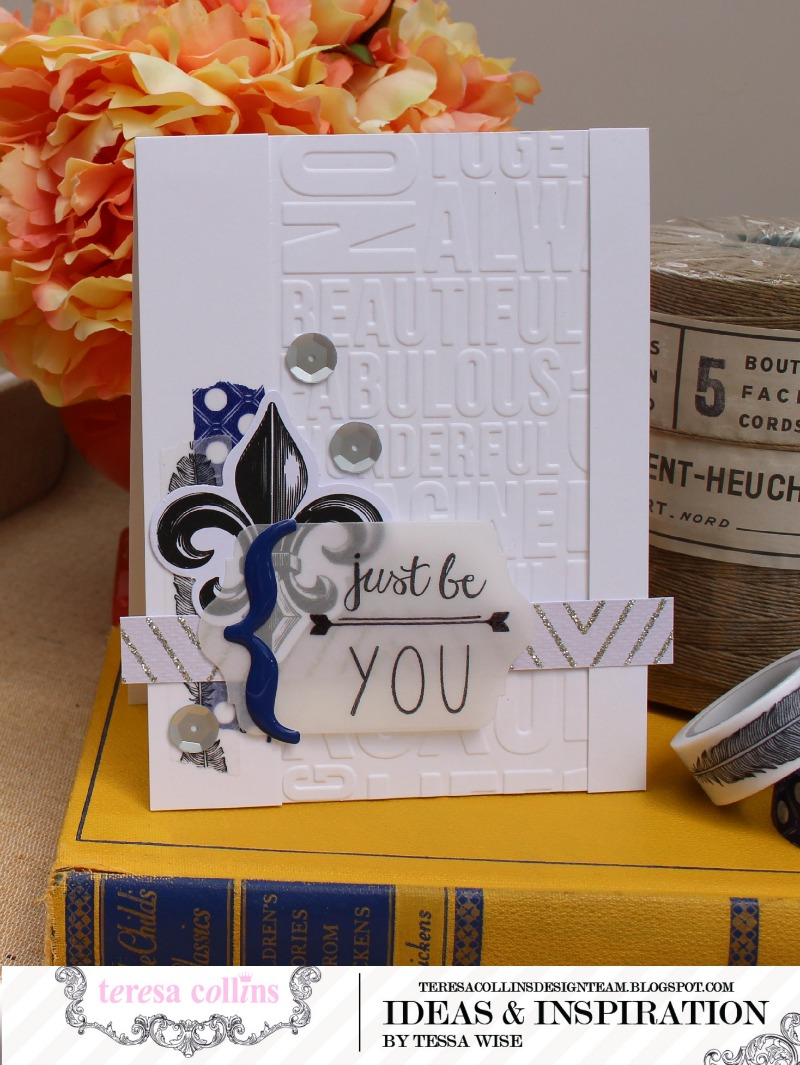 TERESA COLLINS DESIGNS Just Be You Card 1