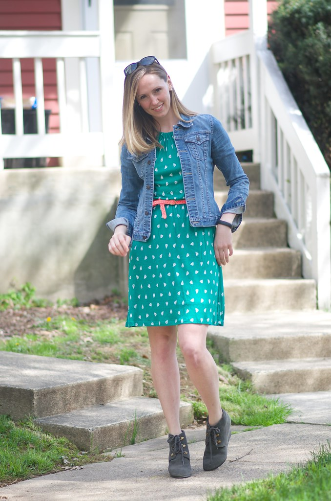 green boat dress 3