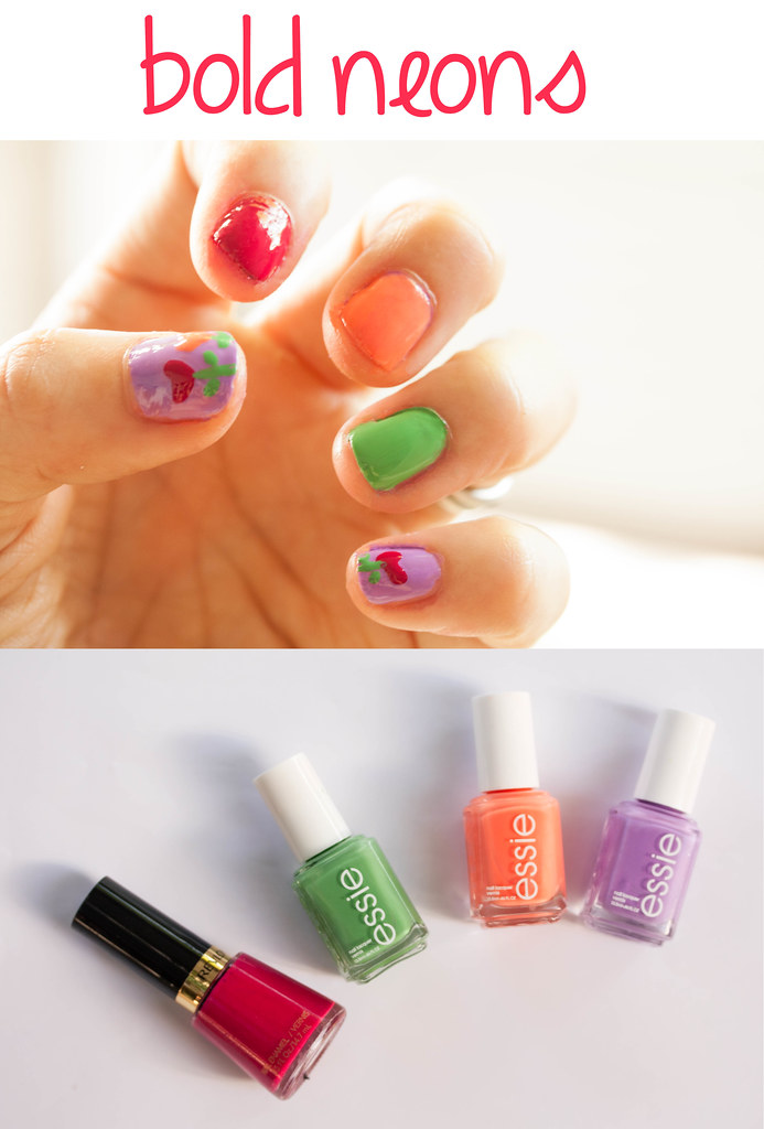 cute & little blog | spring 2014 nail trends | bold neons | heart flower nail art | #walgreensbeauty #shop