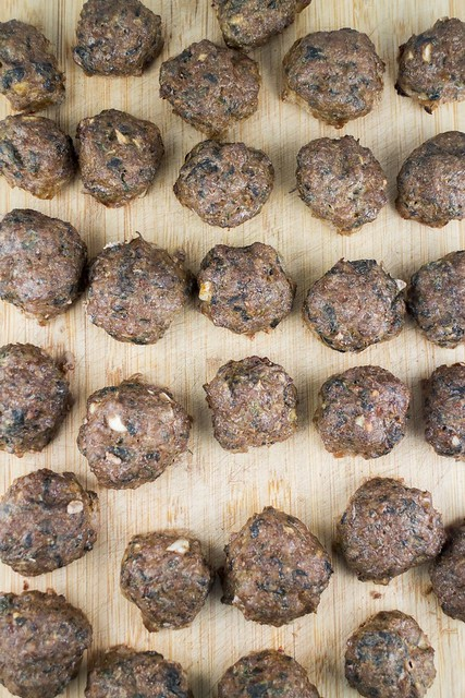 These Baked Soy Sauce Meatballs are delicious and healthy! Recipe includes lettuce in the meatballs alongside ground beef, turkey and many herbs. They are perfect for serving over pasta or serving as finger food!
