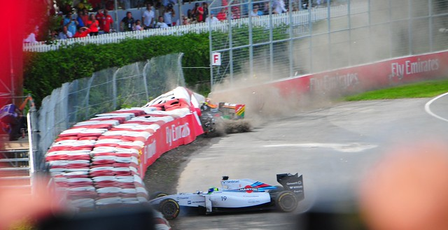 Massa Perez Crash 2014 Canadian Grand Prix 10