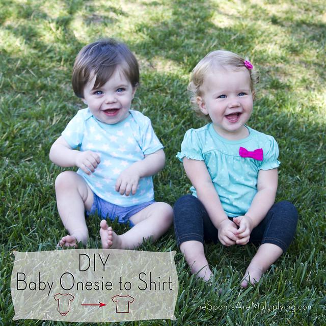 DIY Baby Onesie To Shirt
