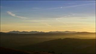 Sunset from Llantysilio to Snowdonia