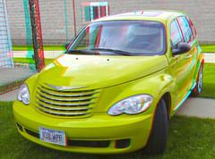 minivan(0.0), compact sport utility vehicle(0.0), city car(0.0), compact car(0.0), automobile(1.0), automotive exterior(1.0), executive car(1.0), vehicle(1.0), automotive design(1.0), chrysler pt cruiser(1.0), chrysler(1.0), bumper(1.0), land vehicle(1.0), vehicle registration plate(1.0), motor vehicle(1.0),