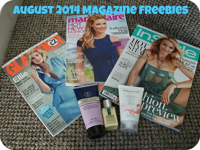 August 2014 Magazine Freebies