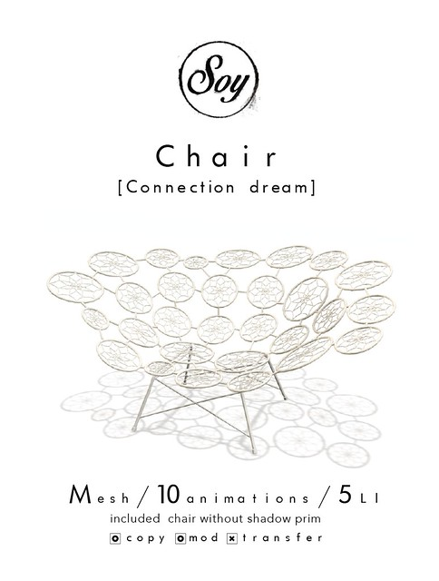 Soy. Chair [Connection dream] for TDF